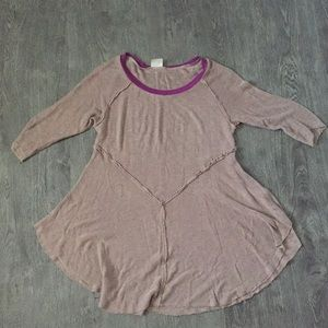 Intimately Brown Long Sleeve with Purple Detailing
